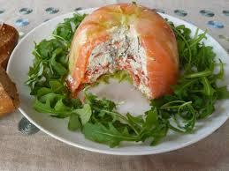 charlotte de courgette saumon