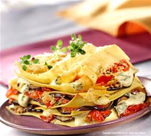 lasagne aux légumes et tomates confites