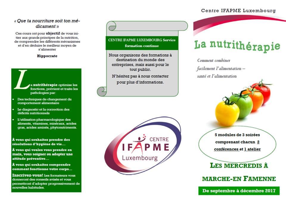 Cours de nutrithérapie et ateliers pratiques à Marche-en-Famenne