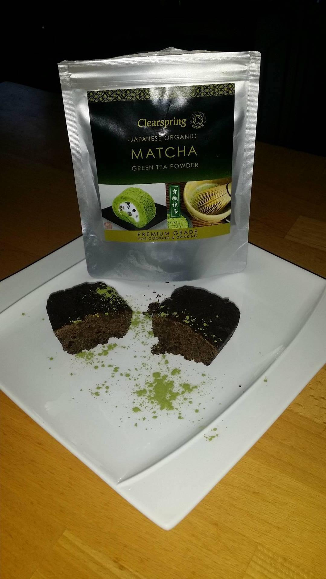 Brownies au thé matcha