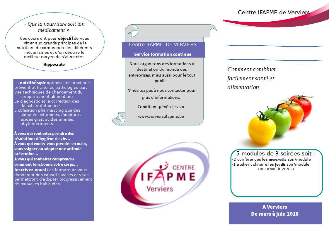Cours «La nutrithérapie» à Verviers