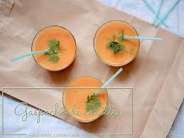 Gaspacho de carotte-gingembre au lait de coco