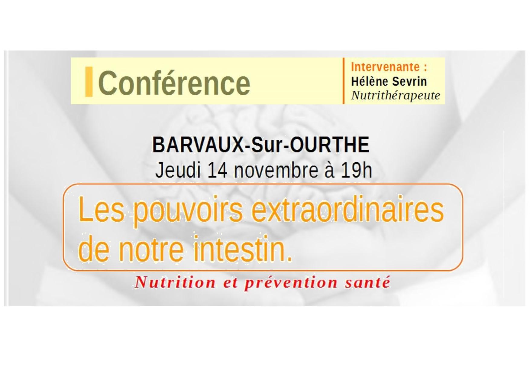 Conférence à Barvaux : « Les pouvoirs extraordinaires de l'intestin »