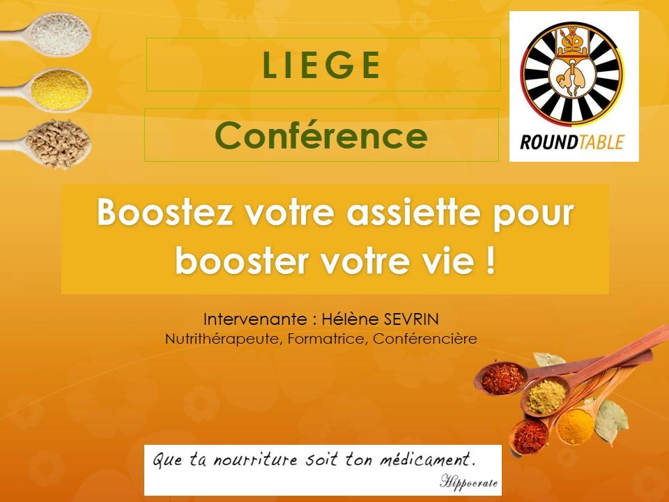 Conférence pour la Table Ronde de Liège