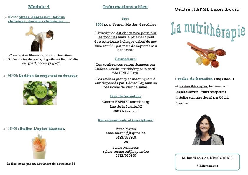 Cours de Nutrithérapie ouverts à tous!